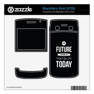 Inspirational Quote The Future Black BlackBerry Decal