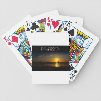 Inspirational Quote -- The Journey of Life Bicycle Playing Cards