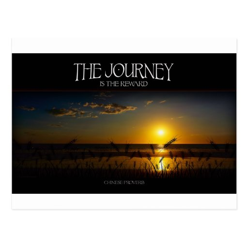 inspirational quote the journey of life postcard zazzle
