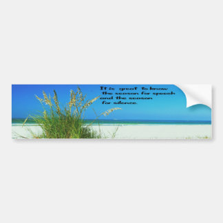 Inspirational Quote The sounds of Silence Bumper Sticker