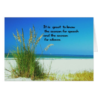 Inspirational Quote The sounds of Silence Card