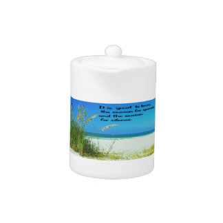 Inspirational Quote The sounds of Silence Teapot