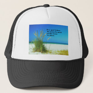 Inspirational Quote The sounds of Silence Trucker Hat