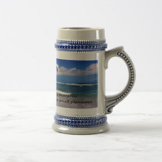 Inspirational quote Think Big Beer Stein