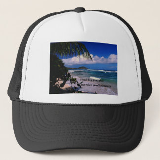 Inspirational quote Think Big Trucker Hat