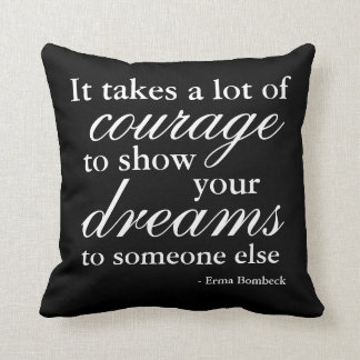 Inspirational Quote Throw Pillow