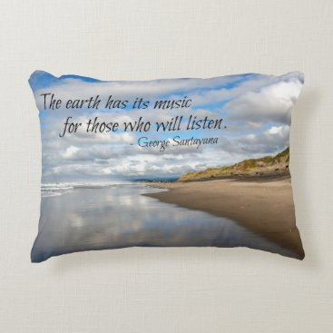 Beach Themed Inspirational quote throw pillow - Pacific beach