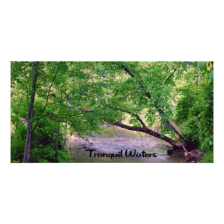 Inspirational quote Tranquil Waters Card