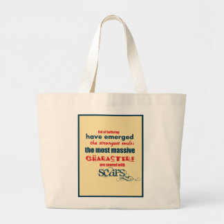 Inspirational Quote Typography Canvas Bag