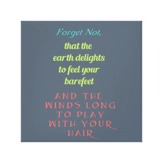 Inspirational Quote Typography Canvas Print