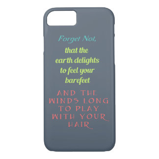 Inspirational Quote Typography iPhone 8/7 Case