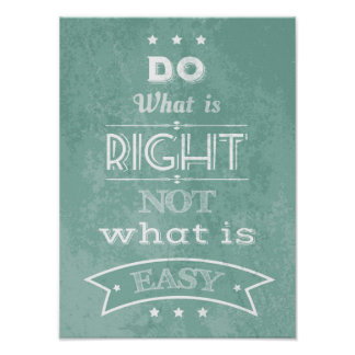 Inspirational quote typography poster