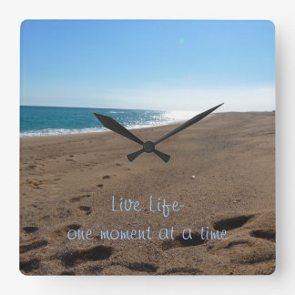 Inspirational Quote Wall Clock