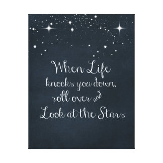 Inspirational Quote: When Life Knocks you Down Canvas Print