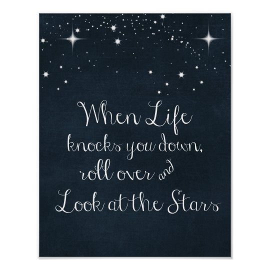 Inspirational Quote When Life Knocks You Down Poster Zazzlecom