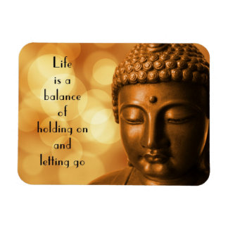 Inspirational Quote with a Buddha Image Magnet