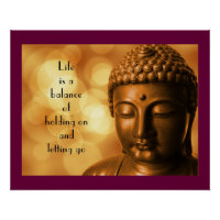 Inspirational Quote with a Buddha   Image Poster