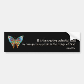Inspirational Quote with Butterfly. Car Bumper Sticker