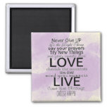 Inspirational Quotes and Sayings 2 Inch Square Magnet