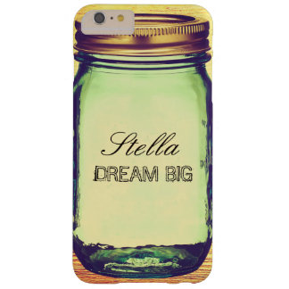 Inspirational Quotes Dream Big on Retro Mason Jar Barely There iPhone 6 Plus Case
