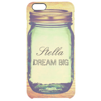 Inspirational Quotes Dream Big on Retro Mason Jar Uncommon Clearly™ Deflector iPhone 6 Plus Case