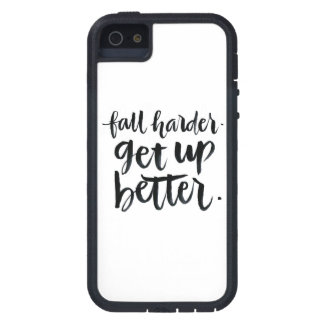 Inspirational Quotes: Fall harder. Get up better. iPhone SE/5/5s Case