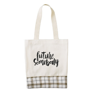Inspirational Quotes: Future Somebody Zazzle HEART Tote Bag
