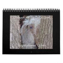 Inspirational Quotes Goat Calendar 2014
