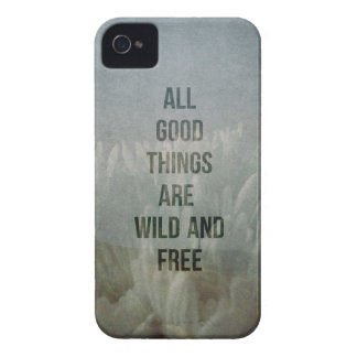 Inspirational Quotes Good Things Wild Free Photo iPhone 4 Case-Mate Cases