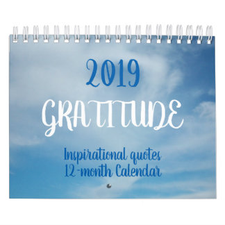 Inspirational Quotes gratitude 2019 Calendar