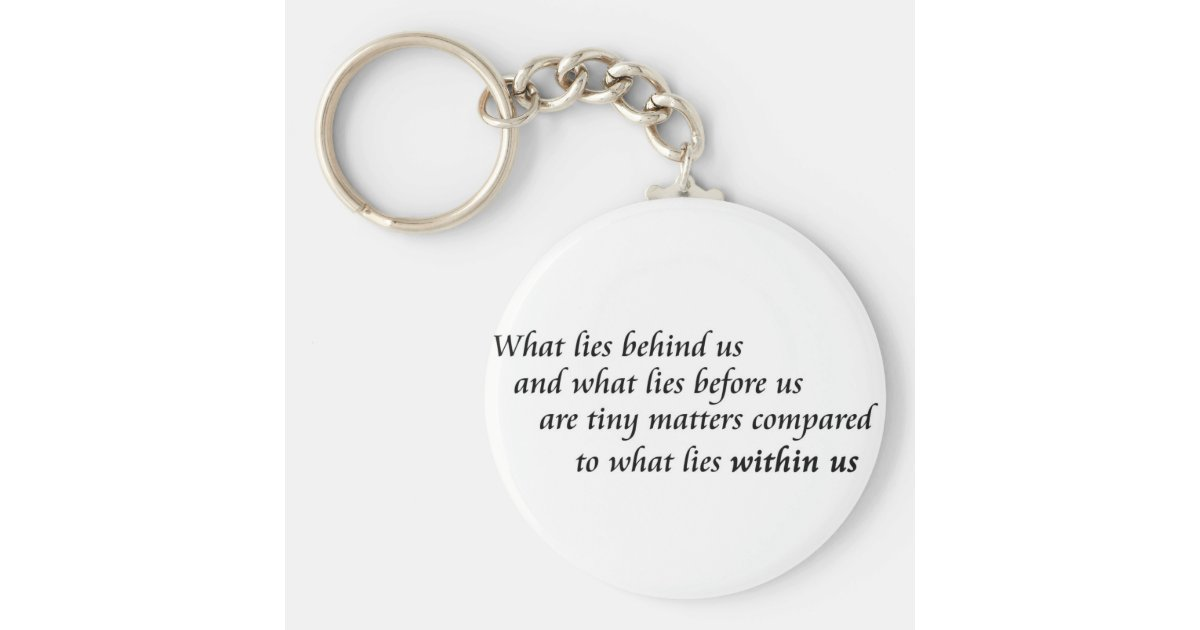 Keychain Quotes Inspirational quotes keychains confidence gifts | Zazzle.com Keychain Quotes