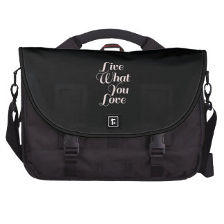 Inspirational Quotes Live Love Gift Black Commuter Bags