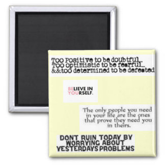Inspirational Quotes Magnet