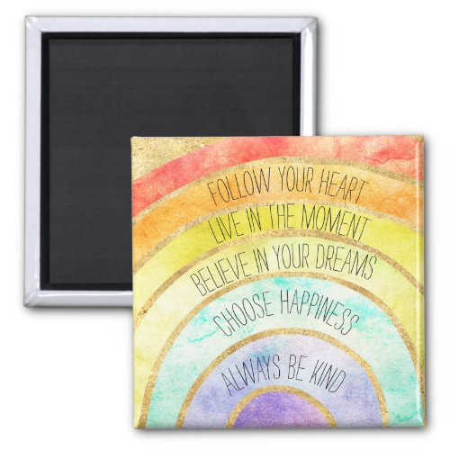 Inspirational Quotes Rainbow Magnet
