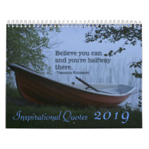 Inspirational Quotes scenic nature 2019 calendar