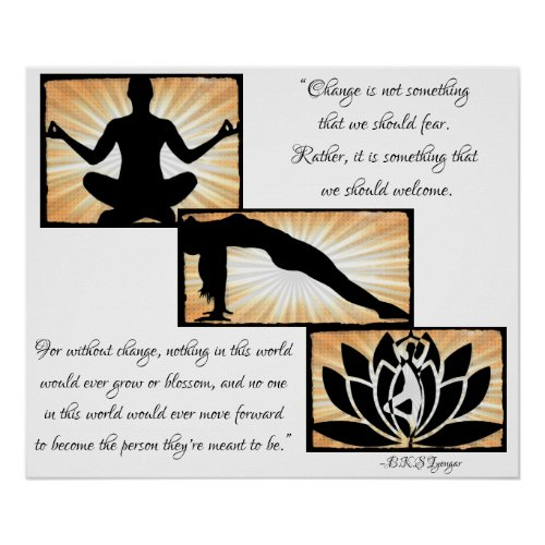 inspirational Quotes Yoga Meditation New Age Poste Poster