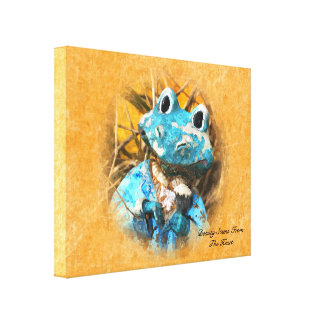 Inspirational Quotes You Are Beautiful Frog Prince Canvas Print