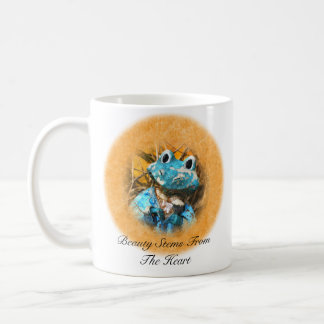 Inspirational Quotes You Are Beautiful Frog Prince Coffee Mug