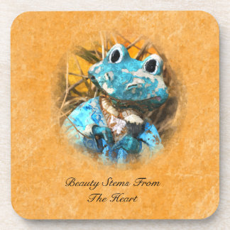 Inspirational Quotes You Are Beautiful Frog Prince Drink Coaster