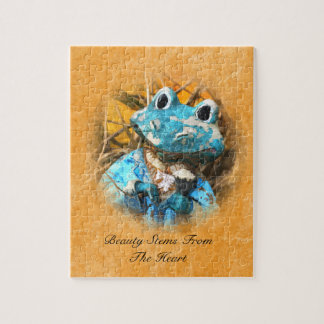 Inspirational Quotes You Are Beautiful Frog Prince Jigsaw Puzzle