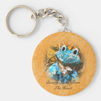 Inspirational Quotes You Are Beautiful Frog Prince Keychain