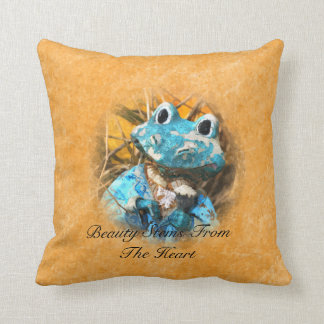 Inspirational Quotes You Are Beautiful Frog Prince Throw Pillows