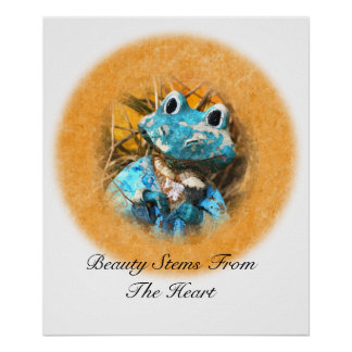 Inspirational Quotes You Are Beautiful Frog Prince Poster
