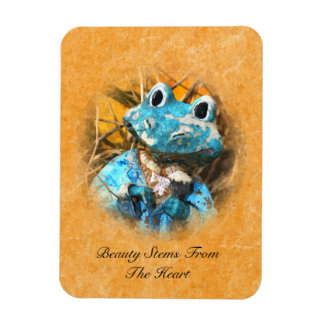 Inspirational Quotes You Are Beautiful Frog Prince Rectangular Photo Magnet