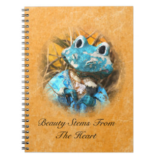 Inspirational Quotes You Are Beautiful Frog Prince Spiral Notebook