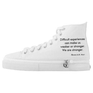 Inspirational Quotes Zipz High Top Shoes Men/Women