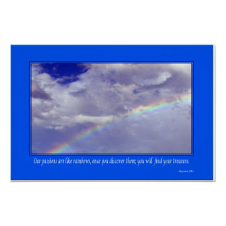 Inspirational Rainbow - Small Poster