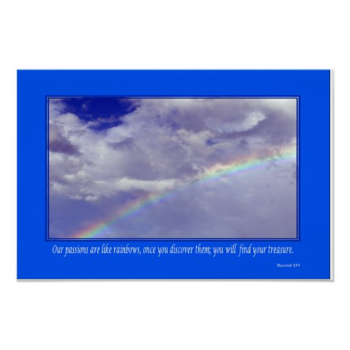 Inspirational Rainbow - Small Poster