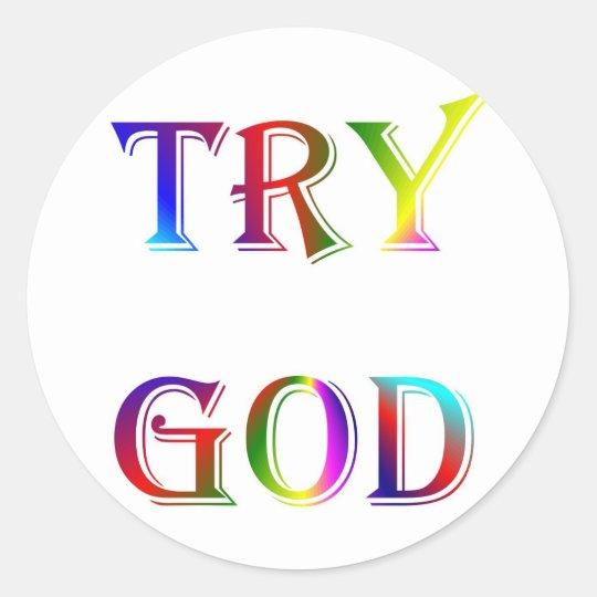 INSPIRATIONAL RELIGION FAITH CLASSIC ROUND STICKER
