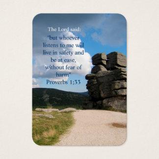 Inspirational Religious Business Card
